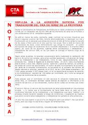 REPULSA A LA AGRESIÓN SUFRIDA POR TRABAJADOR DEL ORA DE JEREZ DE LA FRONTERA