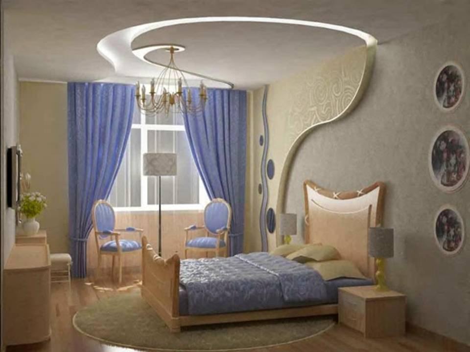 Home decor latest bedrooms gypsum board designs for Bedroom gypsum design