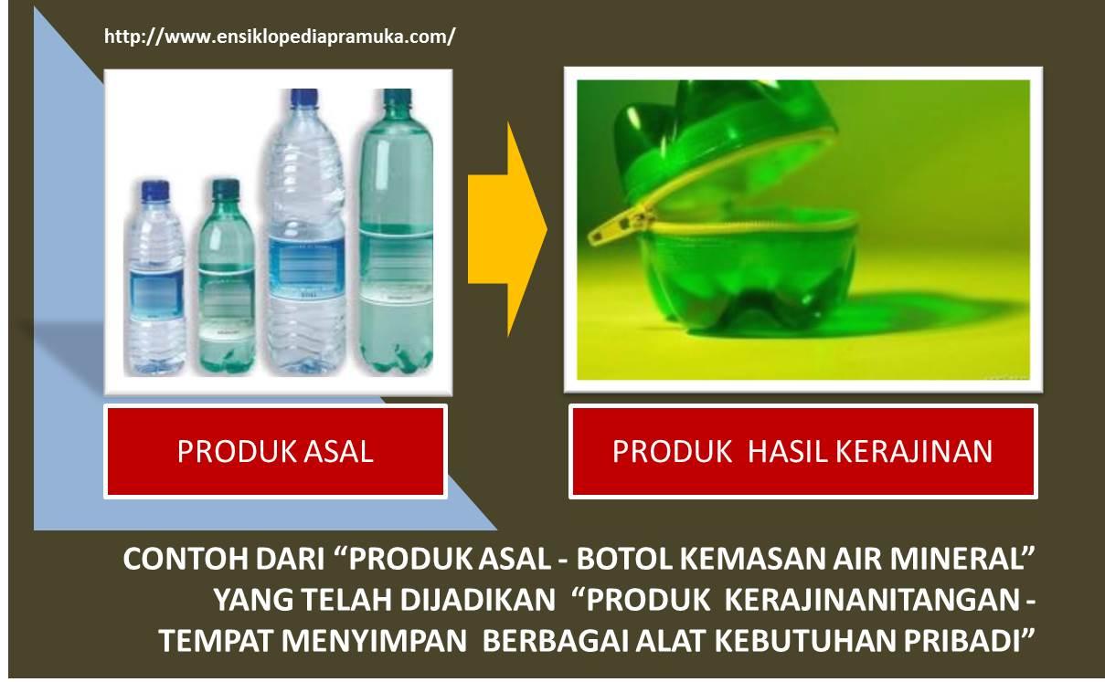 contoh botol kemasan asli dan contoh bentuk-bentuk kerajinan tangan
