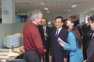 Larry Lumsden meets the Chinese President Wen Jiabao