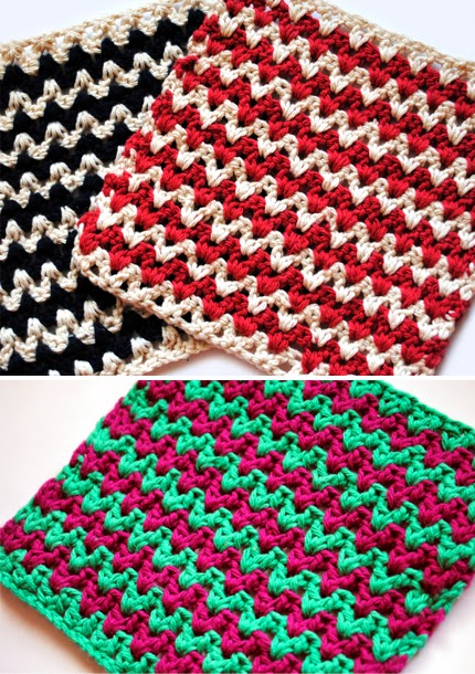 Free Crochet Dishcloth Pattern – ZigZag
