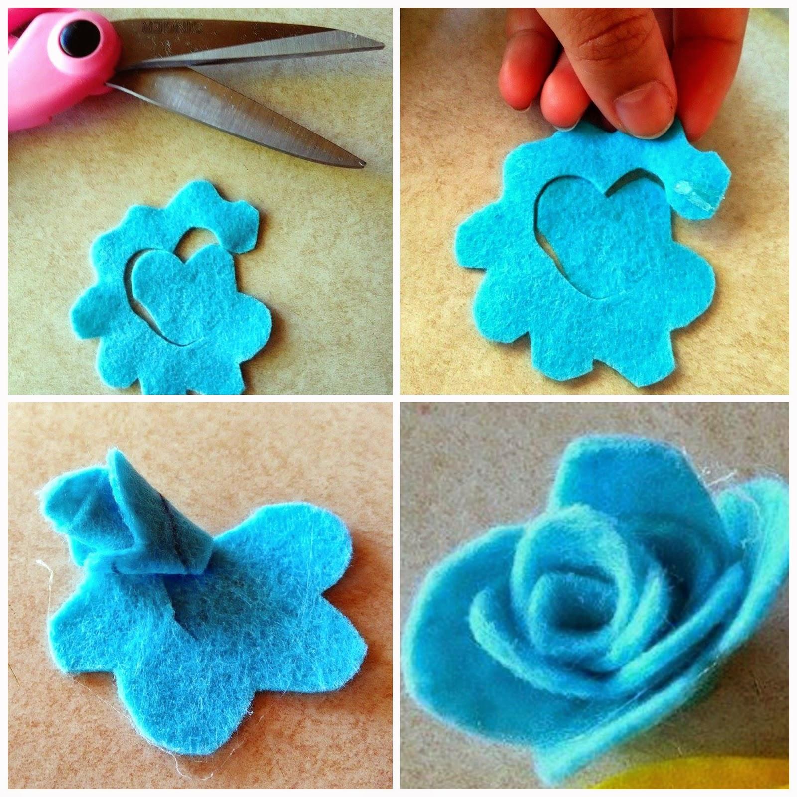 Flor de felpa, Rosa