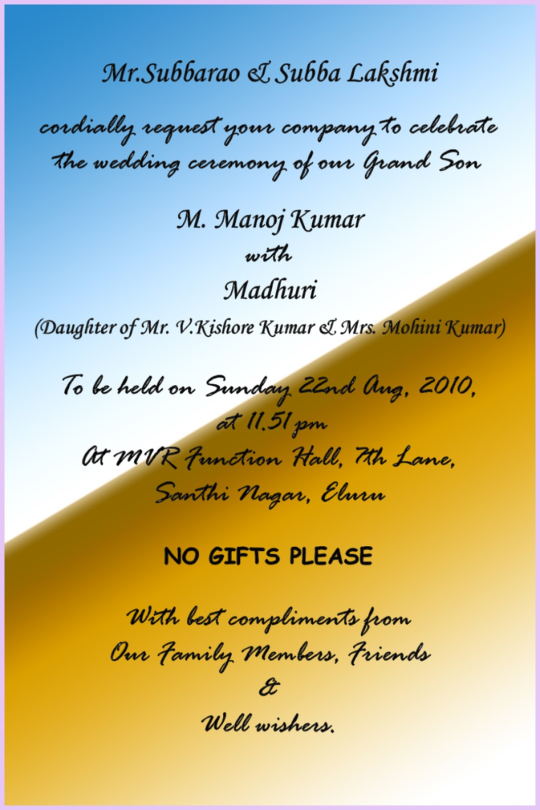 Indian wedding invitation card quotes in hindi yaseen for hindu wedding quotes quotesgram indian wedding invitation card stopboris Image collections
