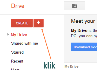 upload di googledrive