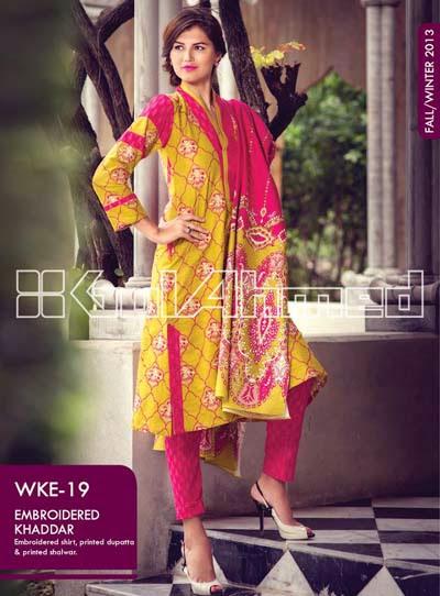 Gul Ahmad For Women2013-2014 | New Winter Fall Dresses 2013-2014 By Gul Ahmad For Women