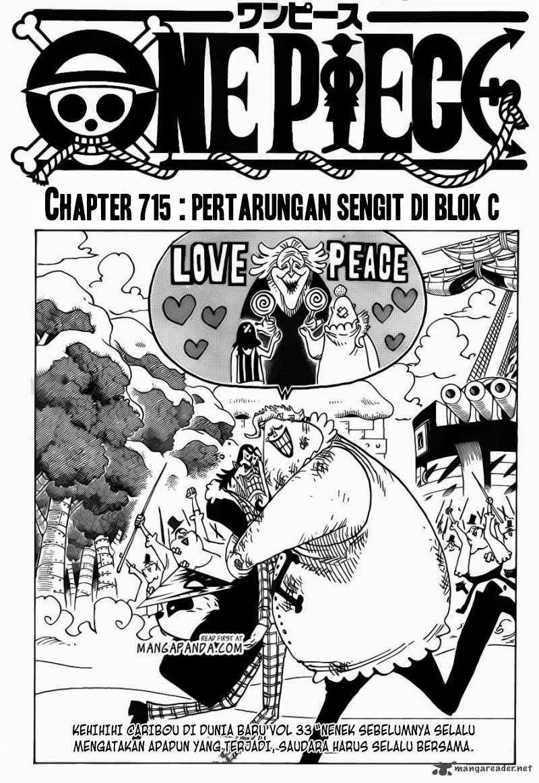 716 One Piece 715   Pertarungan Sengit di Blok C