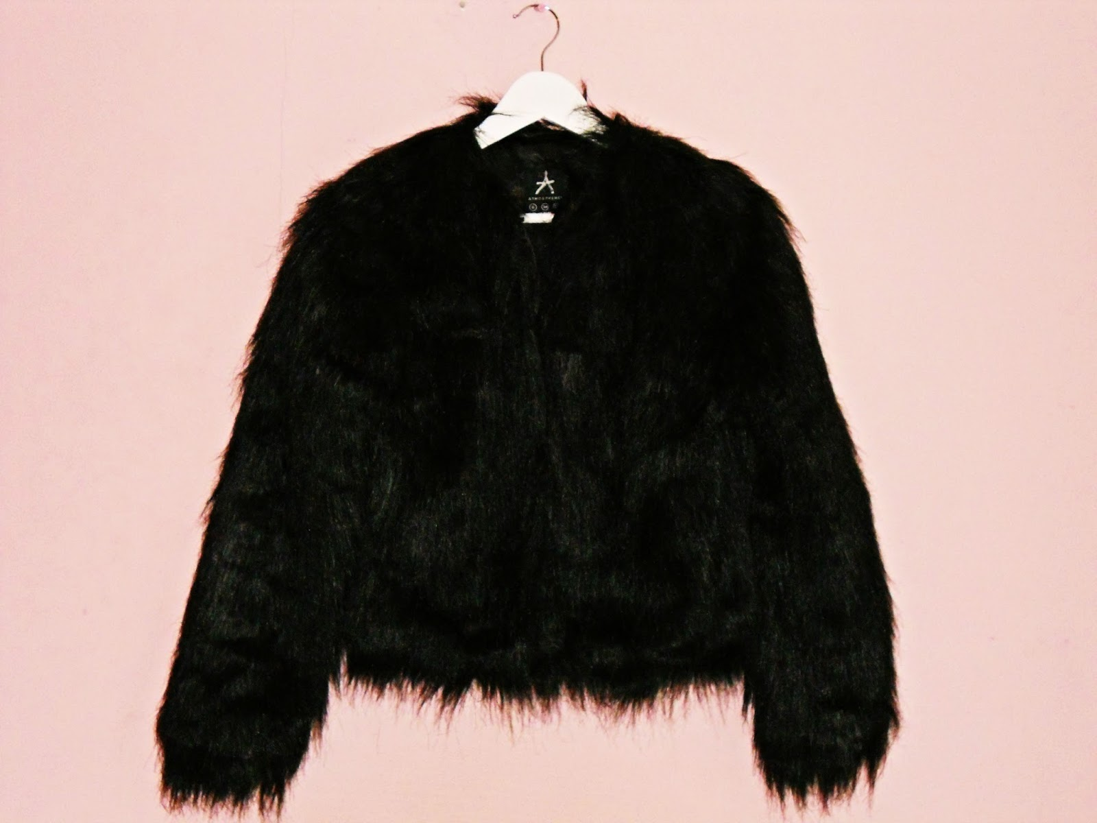 Primark Den Haag haul black faux fur coat