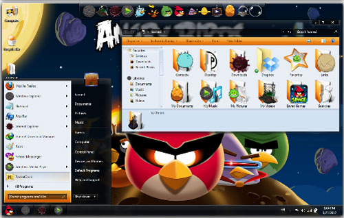 Download Angry Birds Space Windows 7 Theme