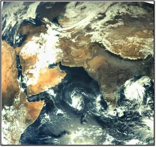 ISRO Released First Image of earth taken by Mars Color Camera