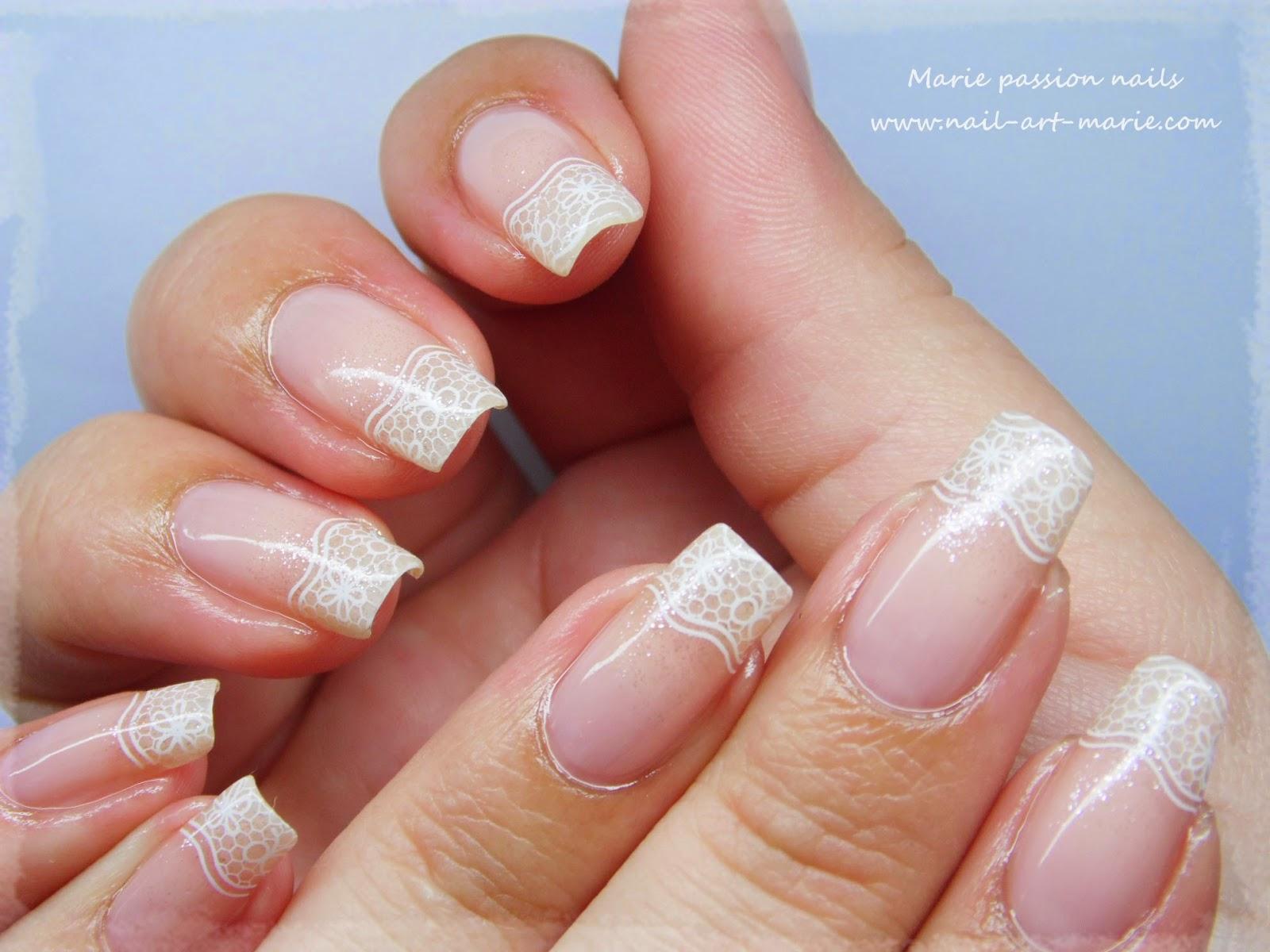 nail art french en dentelle1