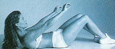 Ćwiczenia na płaski brzuch bez przyrządów. Spinanie z zatrzymaniem.