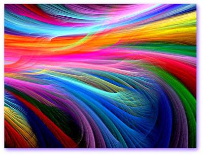 Imagem de banner com raios de todas as cores