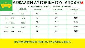 ΑΣΦΑΛΕΙΑ ΑΥΤΟΚΙΝΗΤΟΥ ΑΠΟ 49 €