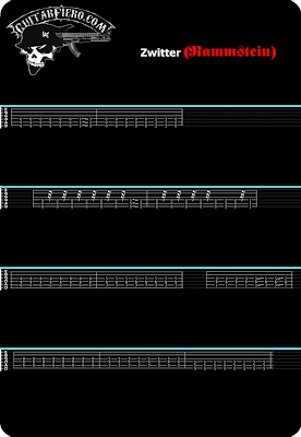 Tablatura guitarra Zwitter Rammstein