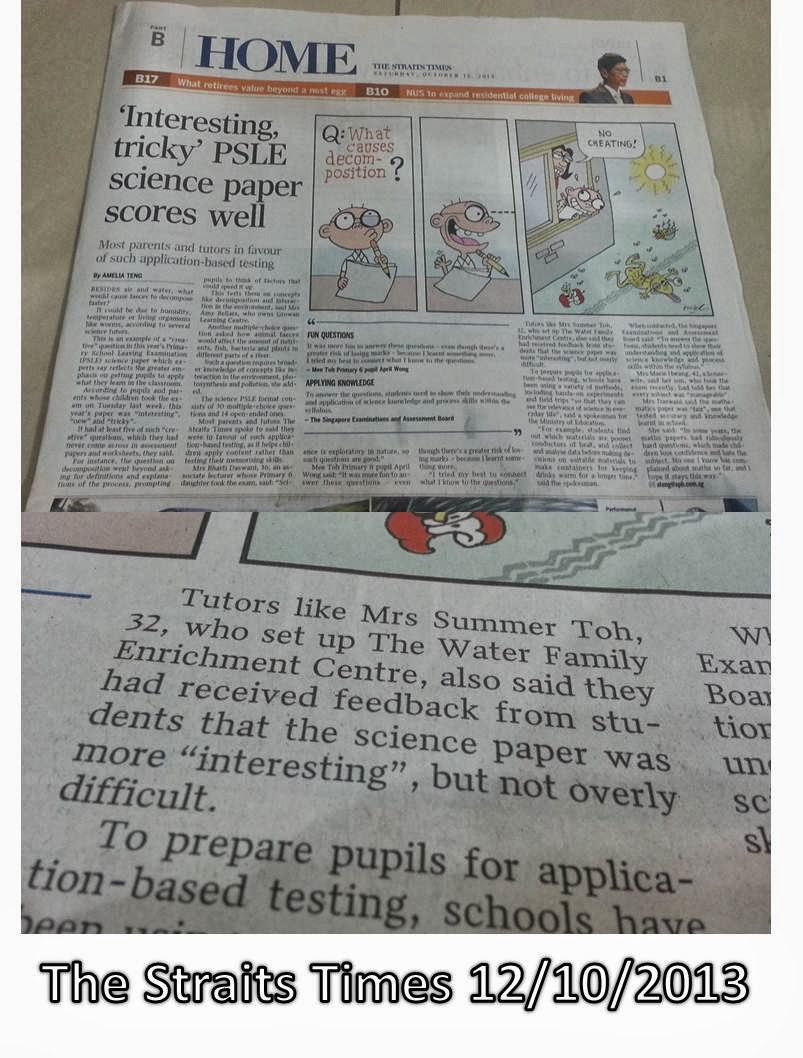 The Straits Times 12 October 2013