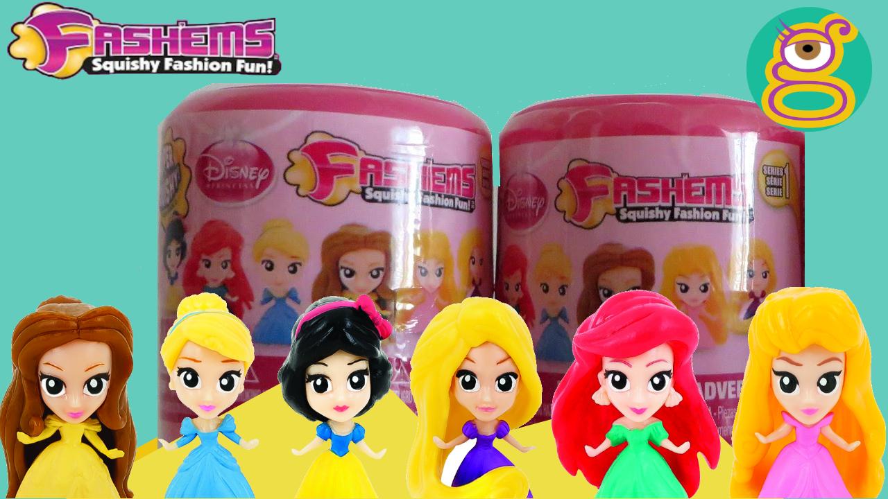 Abrimos 3 fashems de las Princesas Disney - 3 Disney Princess Fashems toys blind surprise bags opening en español