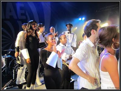 Musiciens choristes Janelle Monae, concert Janelle Monae Trianon Paris