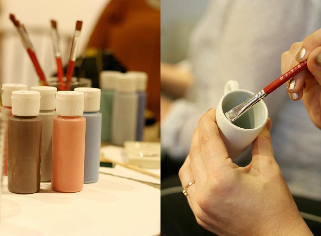 Senseo Capsules, Manufattura, Keramik bemalen, Düsseldorf, DIY, Frollein Pfau, Bloggerevent
