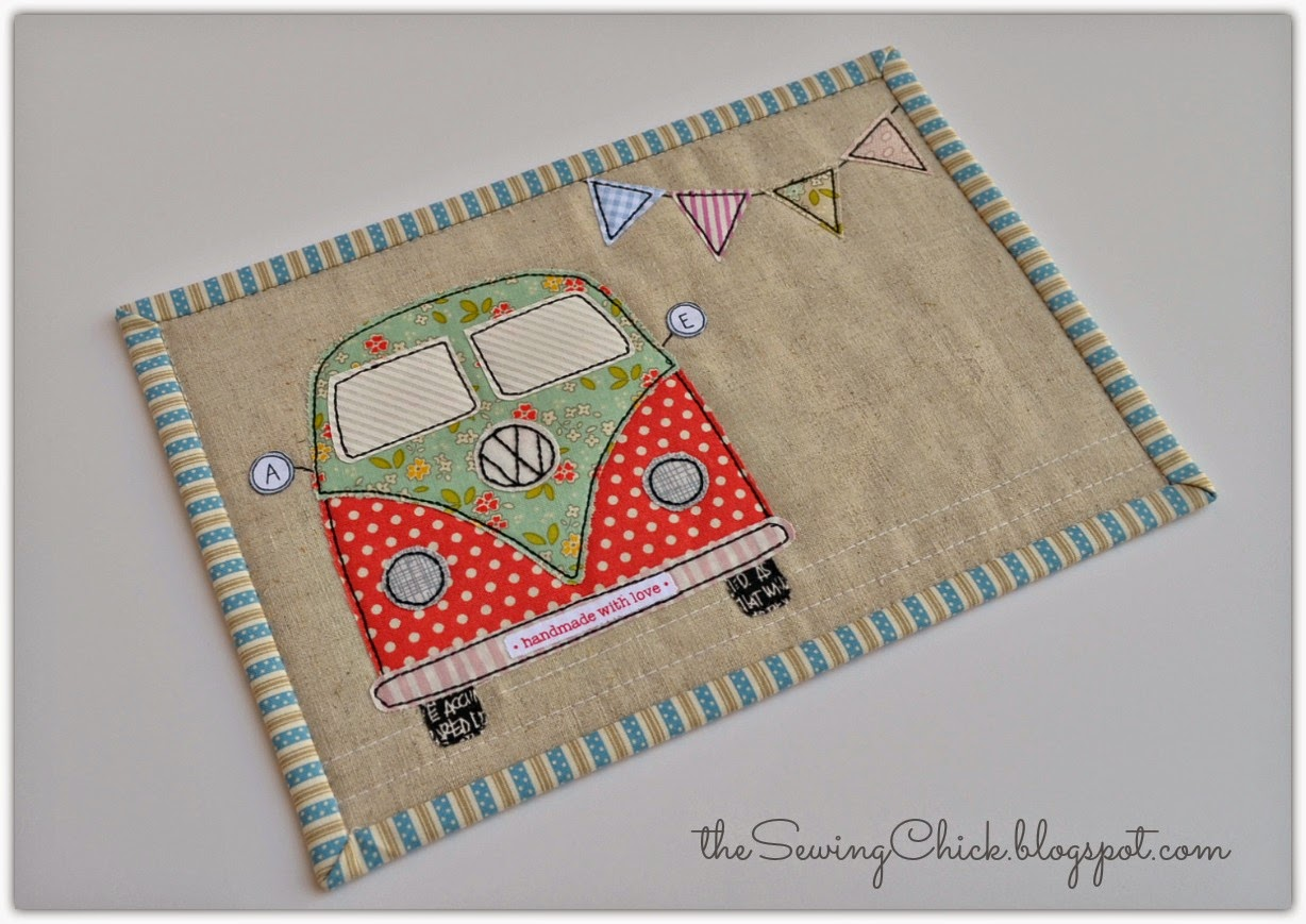 tula pink coastal cruiser VW mug rug the sewing chick