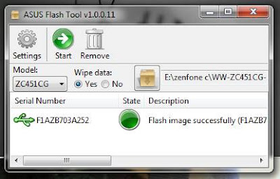 Flash Image Successfully Asus Flash Tool