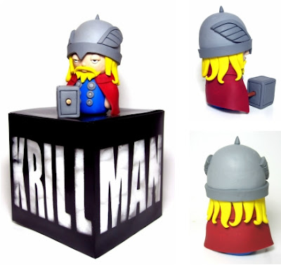 Marvel's The Mighty Thor Polymer Clay Figure and the Packaging by The Krillman