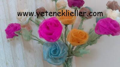 el yapımı çiçek yapımı