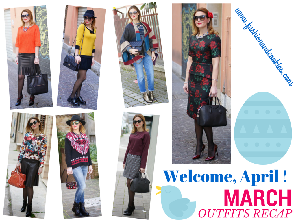 Welcome april, april be good to me, march outfits recap on Fashion and Cookies fashion blog