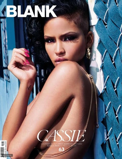 Singer Cassie Covers Blank Magazine Photos