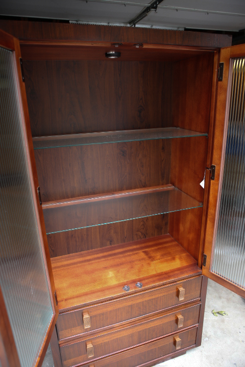 Sweetpickins Absolutely Beautiful Zebra Wood China Cabinet