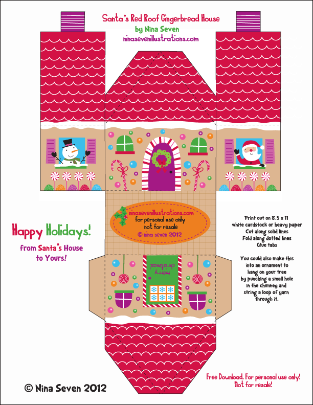 Canny image for printable gingerbread houses