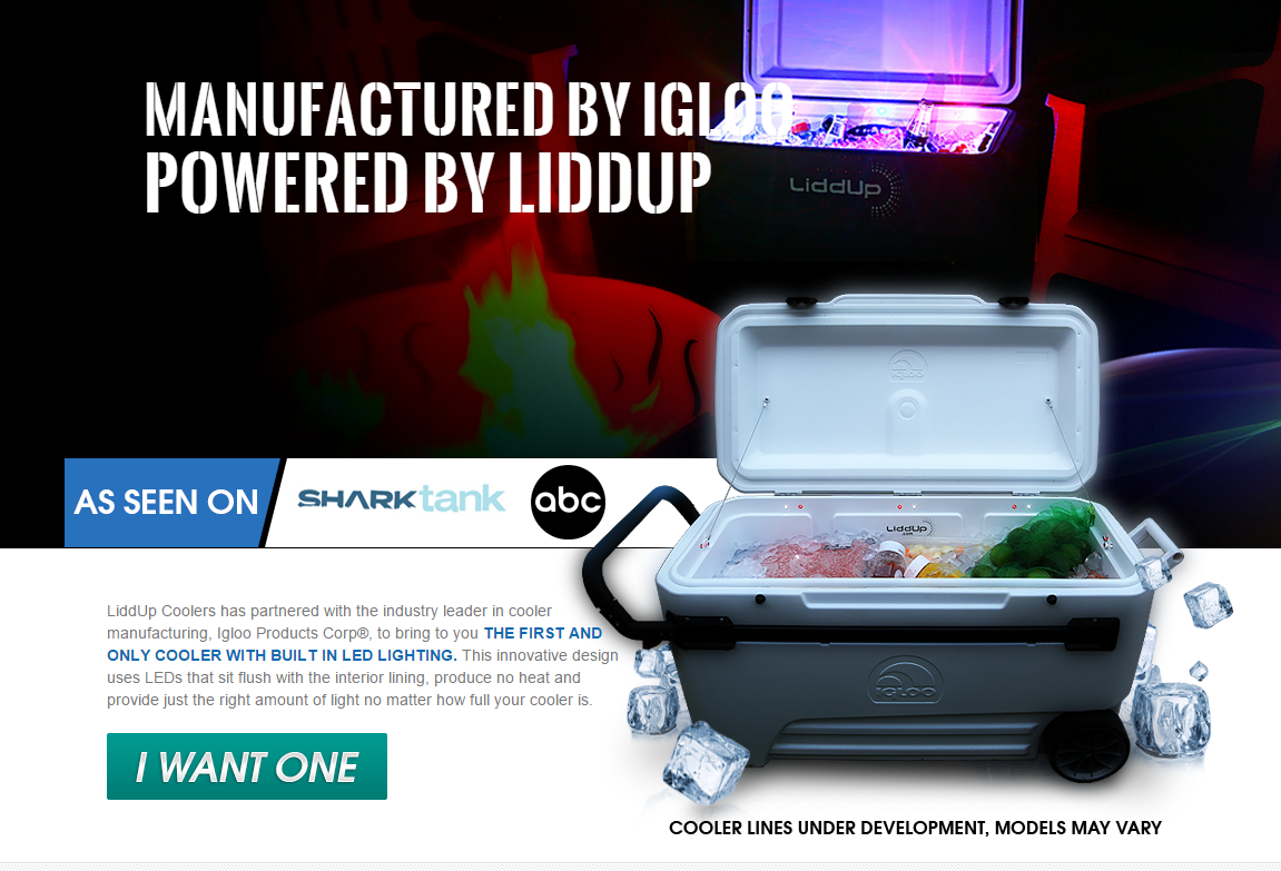 THE FIRST AND ONLY COOLER WITH BUILT IN LED LIGHTING