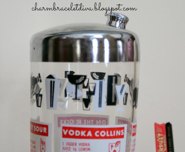 vintage cocktail shaker lid