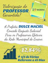 PREFEITURA DE SATUBINHA. VALORIZAÇÃO DO PROFESSOR