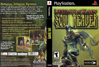 Legacy Of Kain Soul Reaver 1 em Português PS1 CD Capa