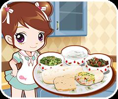 Chơi game nấu ăn hay Bánh cuốn thịt gà