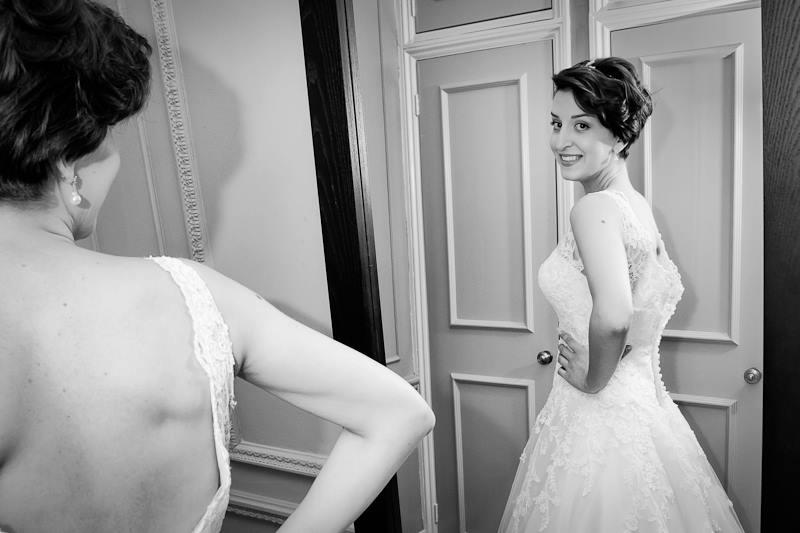Wedding morning preparations, wedding dress, lace, bride