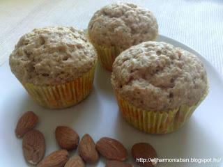 tojásmentes muffon, mandulás muffin,  mogyorós muffin, mákos muffin, muffon tojás nélkül
