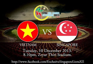 Vietnam vs Singapura Sea Games 2013