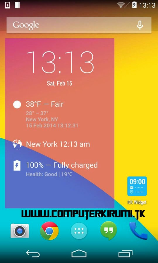 KITKAT LAUNCHER-Best ANDROID LAUNCHER WITH KITKAT THEME-home screen with widgets