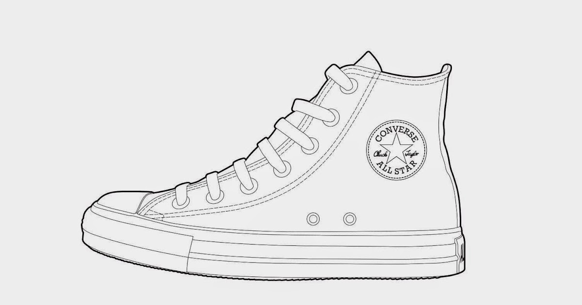 all star shoes coloring pages - photo#6