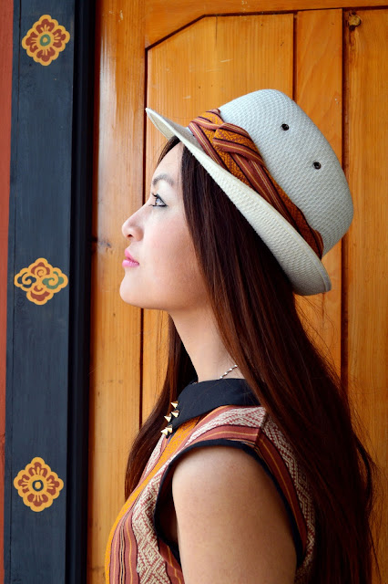 Fashion Bhutanese fusion hat