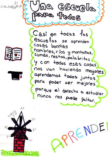 """Una escuela para todos"""" Poesías de 5º Ed. Primaria"""