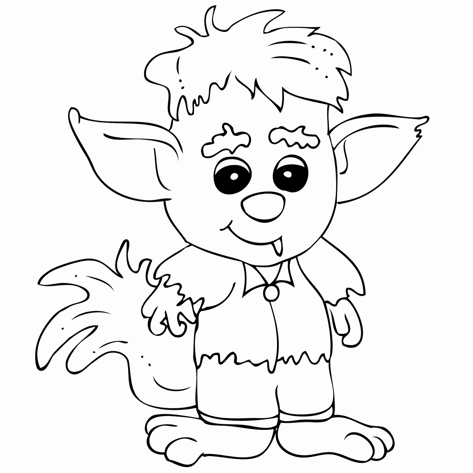 Cute Werewolf Coloring Pages