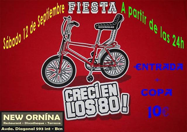 Flyer Fiesta Yo Crecí En Los 80
