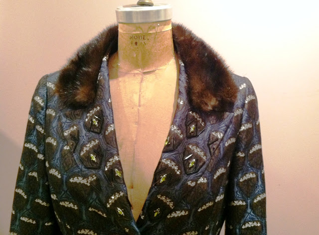 jeweled collar jacket