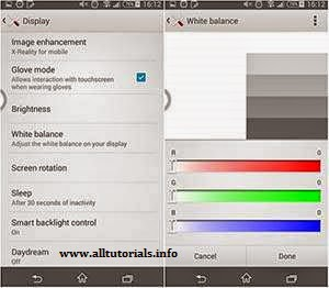 Pengaturan White Balance Sony Xperia Z3