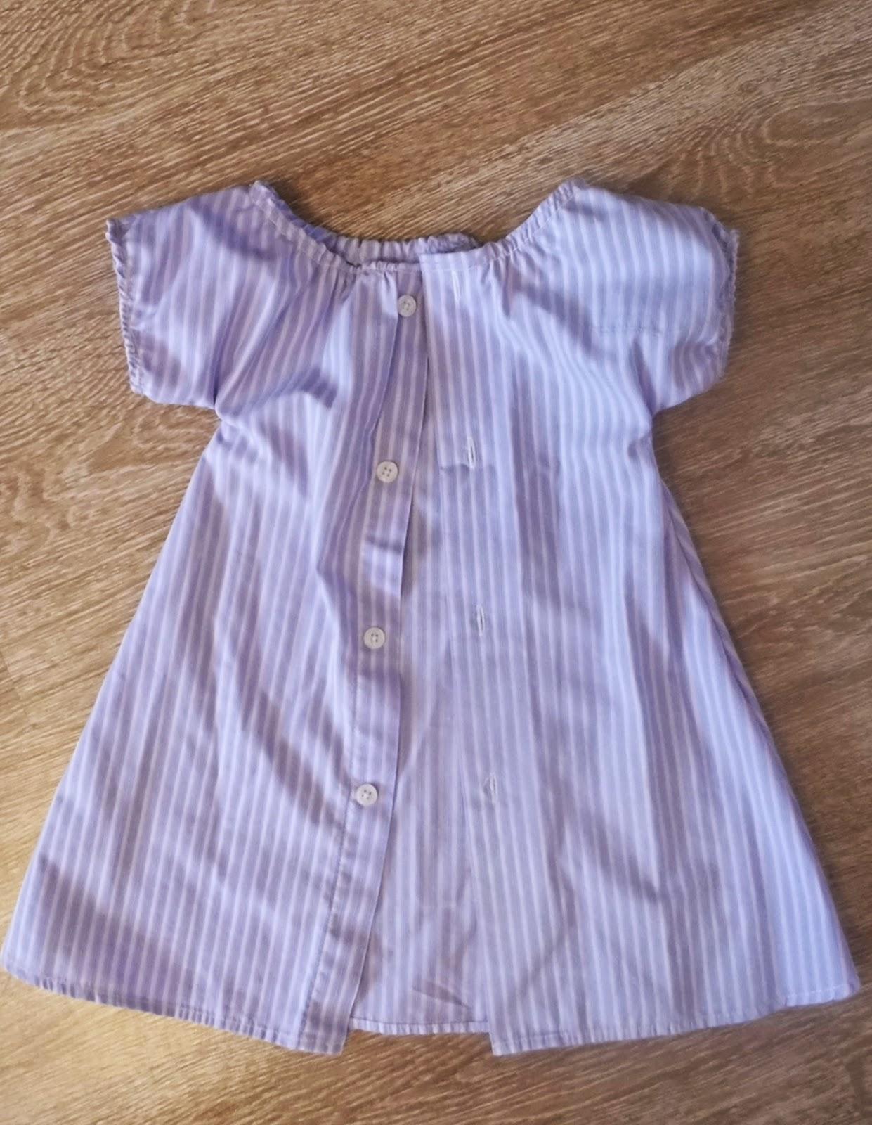 Детское платье из мужской рубашки 45