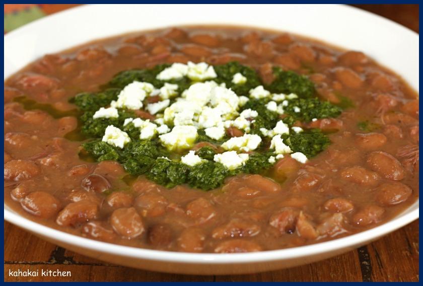 Soupy pinto beans