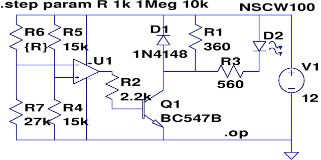 LTspice dark activated relay
