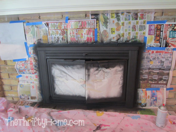 The Thrifty Home Painted Fireplace Mantel Built In Bookcases And Fireplace